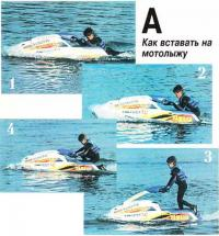 Фото A. Как вставать на мотолыжу