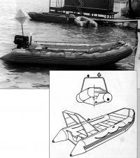 Фото и чертеж лодки «Бриг-С8»