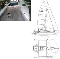 Фото и чертеж тримарана Catri 24