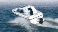 Фото катера Новолна-650 сзади