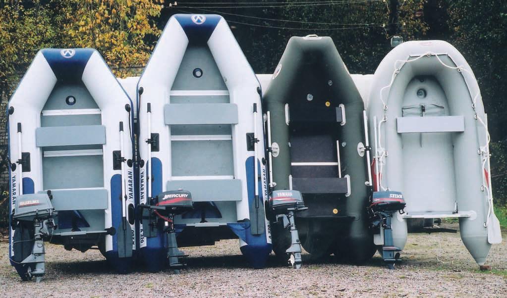 Фото тестируемых лодок в собранном виде