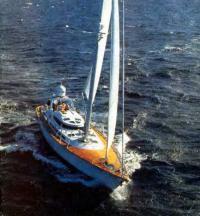 Фото яхты «Марта-Е» сверху
