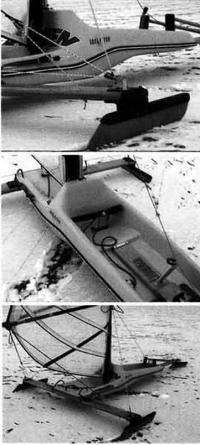 Фотографии разных частей буера «Айс Флайер»