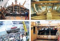 Фотографии строительства когга