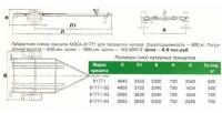 Габаритная схема прицепа МЗСА-81771 для перевозки катера