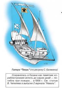 """Галера """"Тверь"""" (по рисунку С. Балакина)"""