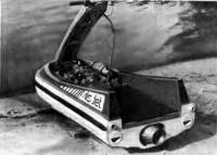 Гидроцикл со снятым капотом двигателя