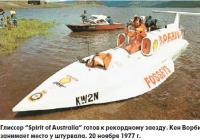 """Глиссер """"Spirit of Australia"""" готов к рекордному заезду"""