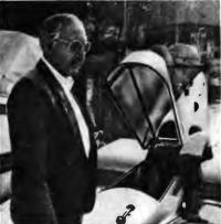Гюнтер Йорг во время испытаний серийного экраноплана