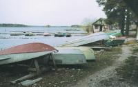 Хранение лодок на берегу