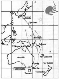 Карта гонки «Ямаха Осака Кап»