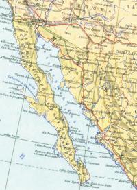 Карта Калифорнийского залива