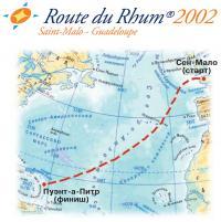 Карта маршрута гонки Route du Rhum