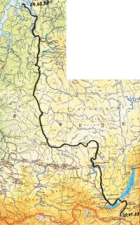 Карта маршрута похода