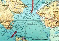 Карта района плавания