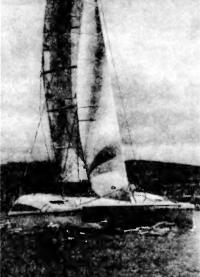 Катамаран «Гепард» под парусами