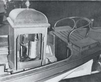Катер «Marie» – вид на корму, сиденье рулевого