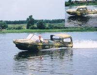 Катер Обь-5М на ходу
