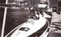 Кеничи Хори в своей лодке