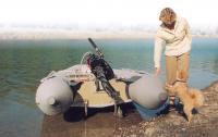 Колеса установлены на лодку