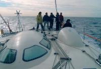 Команда на борту яхты