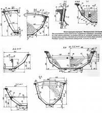 Конструкция корпуса. Поперечные сечения