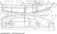 Конструкция корпуса — продольный разрез и план