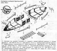 Конструкция разборной двухсекционной лодки «Иня