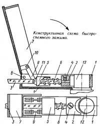 Конструктивная схема быстросъемного зажима
