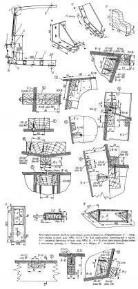 Конструктивный мидель-шпангоут, узлы корпуса и оборудования