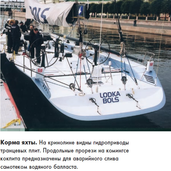 Корма яхты «Bols»
