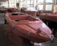 Корпус лодки в цеху