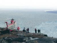 Красивый кадр - вертолет и море