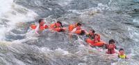 Купание в бурных водах Вуоксы