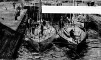 Ленинградские яхты «Новик» и «Флора» в шлюзе Каледонского канала (Шотландия)