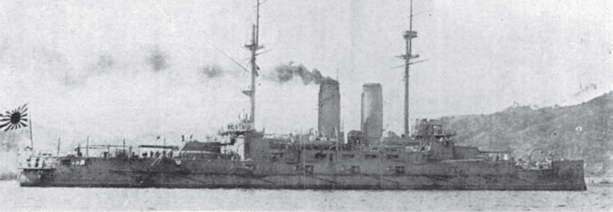 Линкор «Миказа» — одно из последних фото корабля на плаву