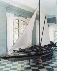 Лодка-верейка, вид спереди