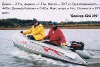 """Лодка """"Баджер-SDА 290"""" на ходу"""