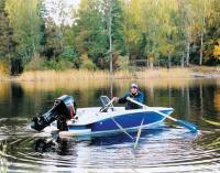 Лодка Дельта-Т с веслами