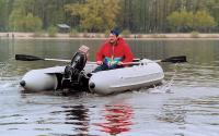 Лодка Лидер-400 на воде