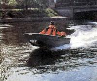 Лодка «Океан-1» на ходу с мотором