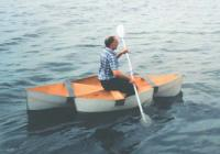 Лодка с пассажиром на воде