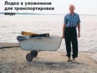 Лодка в уложенном для транспортировки виде