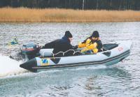 Лодка Zodiac Mark-1 на ходу