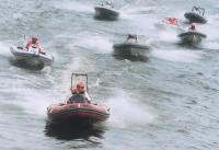 Лодки разогнались после старта