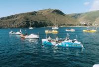 Лодки участников гонки на старте