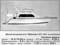 Малая моторная яхта