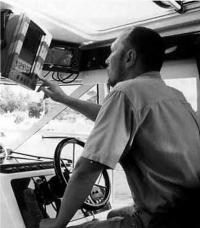 """Место водителя катера """"Aquador-32C"""""""