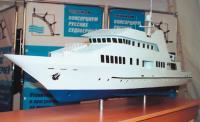 Модель фешенебельной моторной яхты, разработанной ТД