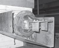 Модель рулевого устройства за соплом МГВД